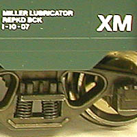 Detail of lettering and diecast truck with optional 2-rail scale metal wheels.