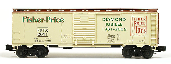 Fisher Price Toy Co. Commemorative Boxcar.