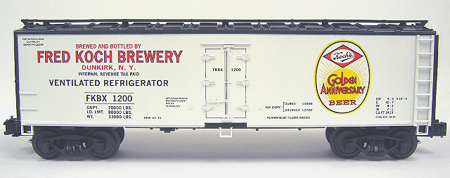 OH124A Fred Koch Brewery Refrigerator Car - w/Golden Anniversary Herald