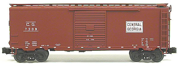 Central of Georgia 7300 Series PS-1 steel boxcar with 8' doors.
